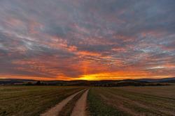Sunset in Bile Karpaty, Slovakia