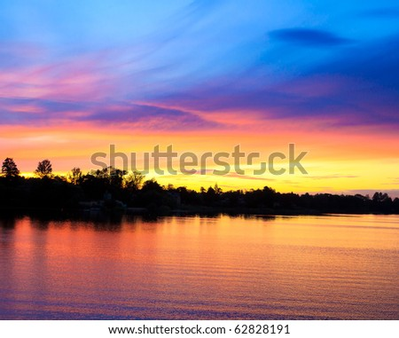 Sunset in Blood - stock photo