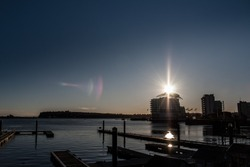 Sunset in Cardiff Bay, Wales