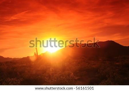 Sunset in Central Arizona