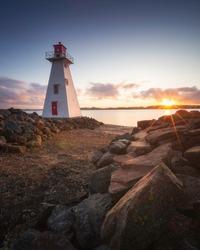 Sunset in Charlottetown, PEI, Canada