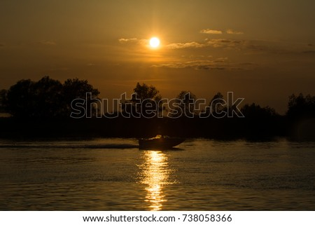 Sunset in Danube Delta