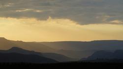Sunset in Drakensberg, South Africa