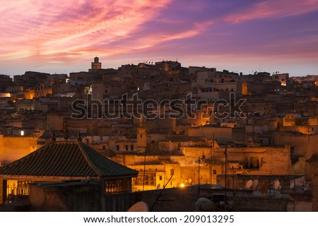 Sunset in Fes, Morocco
