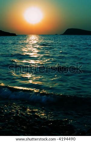 Sunset in Foca, Turkey