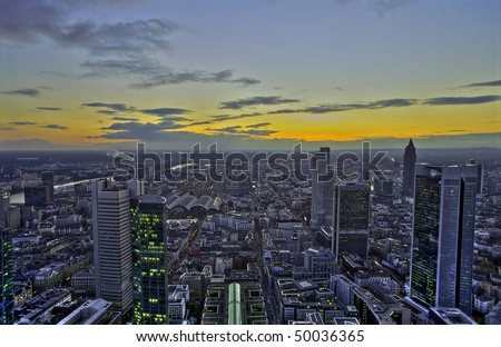 Sunset in Frankfurt, HDR