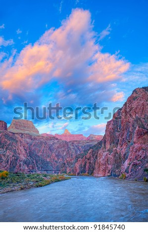 Sunset in Grand Canyon. HDR composition.