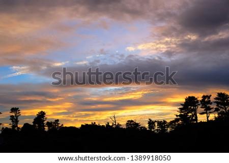 Sunset in Jeju Island, South Korea. #1389918050