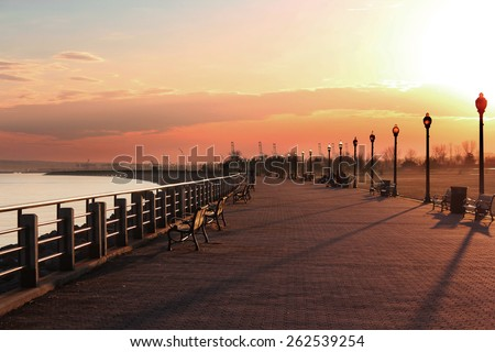 Sunset in Jersey Park, New Jersey