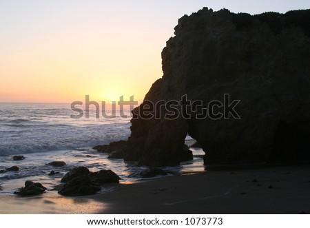 Sunset in Malibu, California