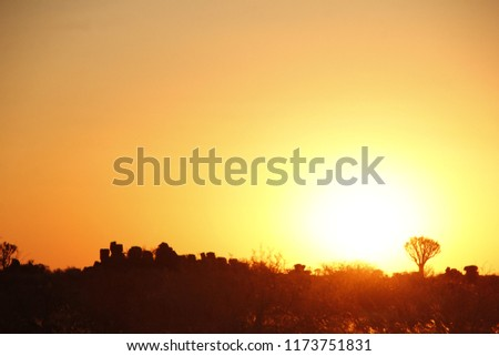 sunset in namibia #1173751831