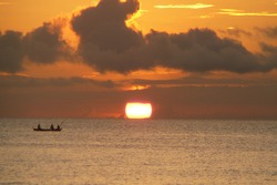 Sunset in Philippines Sipalay