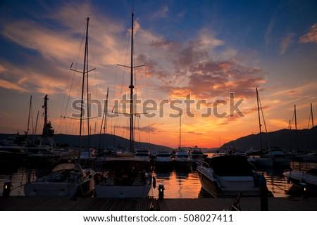 Sunset in Porto Montenegro #508027411