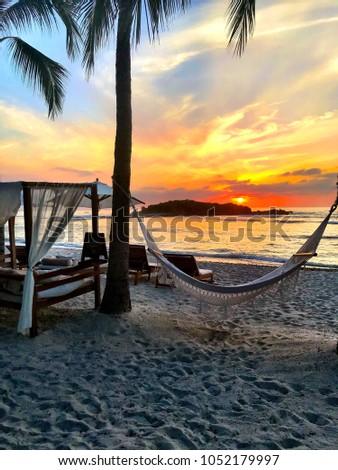 Sunset in Punta Mita Mexico Foto stock ©