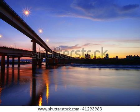 Sunset in riverside