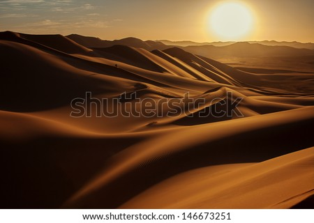 Sunset in Sahara Desert #146673251