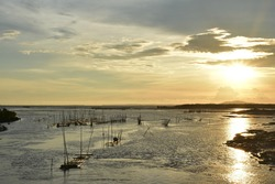 Sunset in San Enrique, Negros Occidental, Philippines.