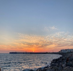 Sunset in the Black Sea cost.