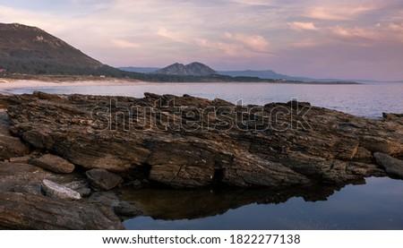 Sunset in the coast of Muros, Galicia, Spain Foto d'archivio ©