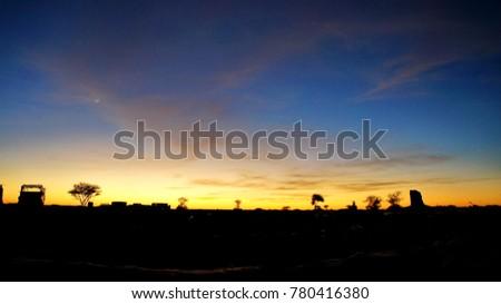 Sunset in the desert #780416380