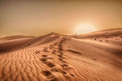 Sunset in the desert, Sunset in the desert  in Dubai UAE