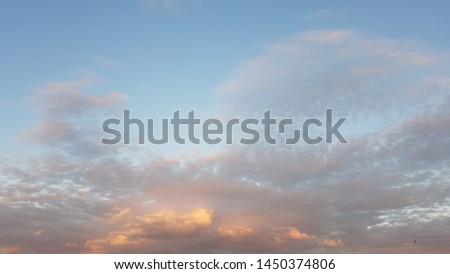 Sunset in the gloomy sky #1450374806