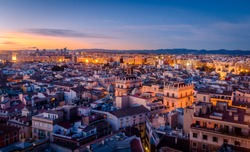 Sunset in the Historic Center of Valencia