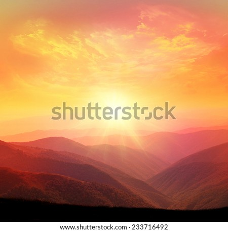 Sunset in the mountain #233716492