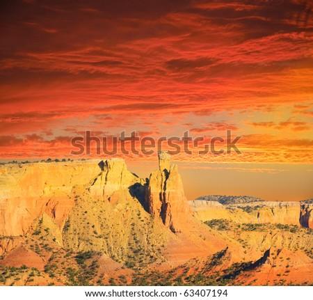 Sunset in the New Mexico Desert