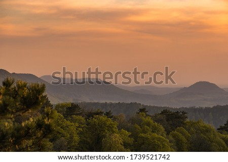 sunset in the Swabian alb Imagine de stoc ©