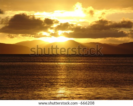 Sunset in the Virgin Islands