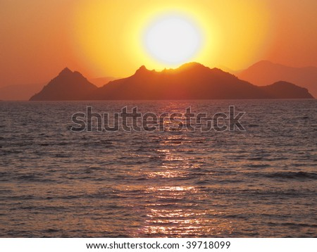 Sunset in Turgutreis BODRUM Turkey