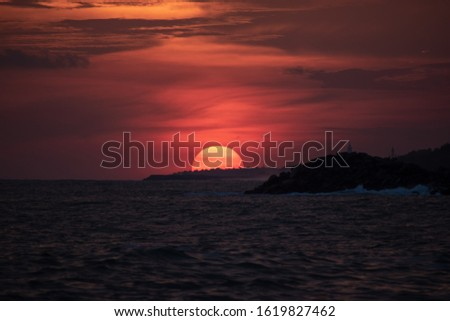 Sunset is distinct from twilight, which is divided into three stages, the first being civil twilight, the second phase is nautical twilight and the third is astronomical twilight.