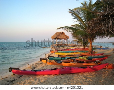 Sunset Kayak in Belize Beach