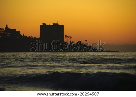 sunset. La Jolla Shores. San Diego, California