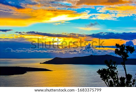 Sunset lake islnad silhouette view. Lake island sunset silhouette. Sunset lake island landscape. Island in sunset lake