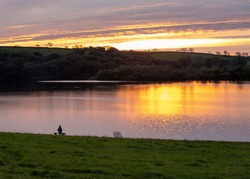 sunset lake photo Llys y fran