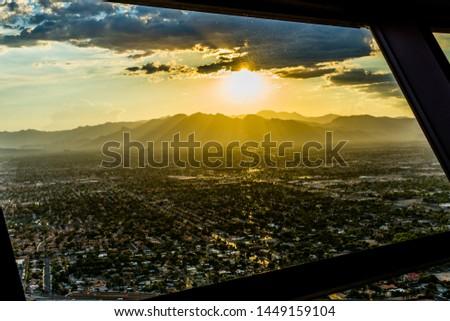 Sunset las vegas stratosphere skyline #1449159104