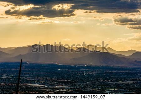 Sunset las vegas stratosphere skyline #1449159107