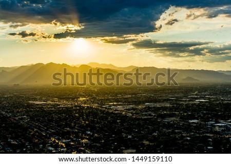 Sunset las vegas stratosphere skyline #1449159110