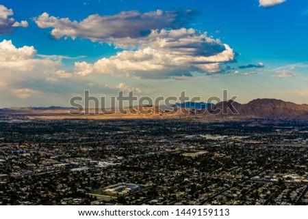 Sunset las vegas stratosphere skyline #1449159113
