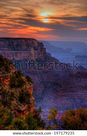 Sunset Late afternoon in the Grand Canyon Arizona