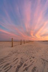 Sunset light in Assateague Island National Park, Maryland.