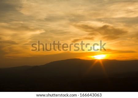 Sunset light orange at Keap Ta Wan, Wan Nam keaw #166643063