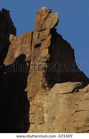Sunset Lit Rock