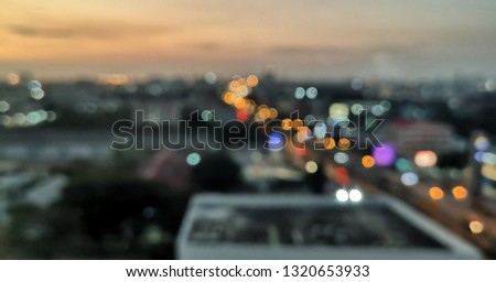 sunset moment with bokeh background  #1320653933