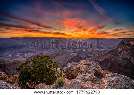Sunset mountain valley sky clouds landscape. Sunset in mountains. Mountain sunset landscape