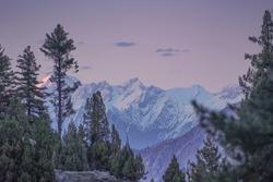 Sunset mountainscape photography at Fairy meadows , Gilgit, Balistan, Pakistan