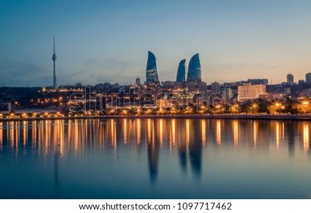 Sunset of Baku, Azerbaijan #1097717462