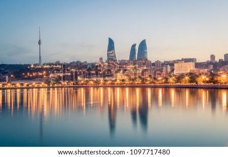 Sunset of Baku, Azerbaijan #1097717480
